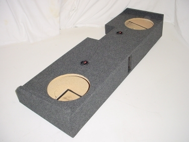2014 Chevy Crew Cab Ported carpeted Subwoofer Box Sub Box 2X10