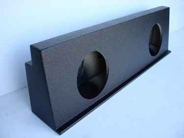 2001-2007 Chevy Crew Cab HD behind seat Poly Sub Box 2X10