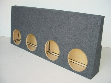 2001-2007 Chevy Crew Cab 4x10'' Carpeted Jumbo Sub Box