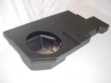 2009-2014 Dodge Ram Quad Cab Single Pro-Poly Sub Woofer Box 1X10