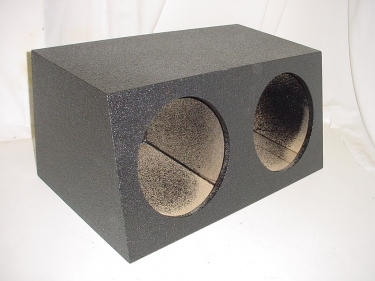 Dual 12'' Sealed Poly Subwoofer Box Sub Box