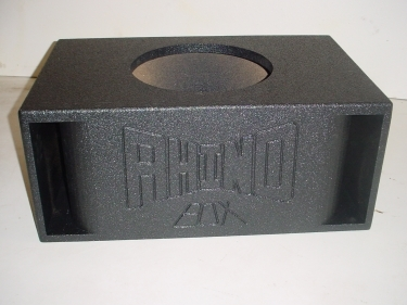 Single 15'' Double Horn Ported Poly Sub Box Subwoofer Box